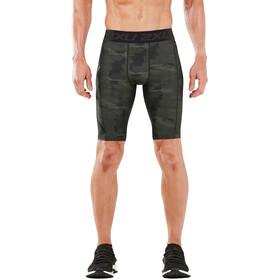 2XU Accelerate Print Compression Shorts Men, asphalt duffel/nero